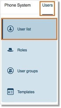 Go to Users, and then User list.