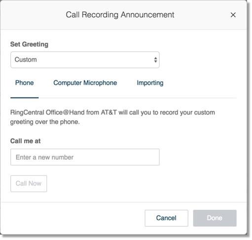 Call Recording Announcement.