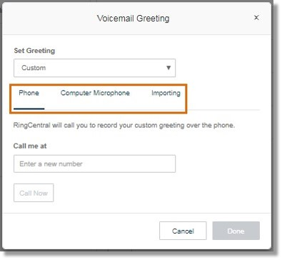 There are three (3) ways to customize the company greeting