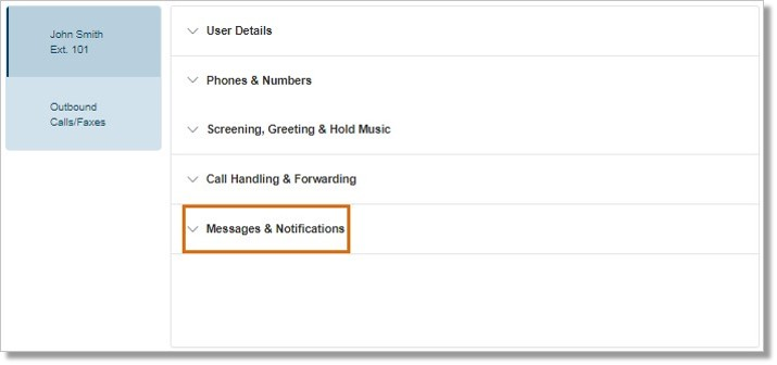 Click Messages & Notifications.