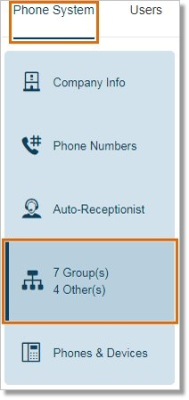 Go to Phone System > Groups.