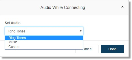 Image of the audio while connecting message.