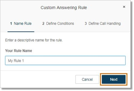 You can edit your rule name. Click Next when you have made the change or if you want to skip this step.