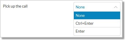 Click the drop-down menu to view available keys, then click the shortcut key you prefer.
