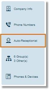 Click Auto-Receptionist.
