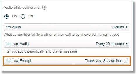 Click Interrupt Prompt.