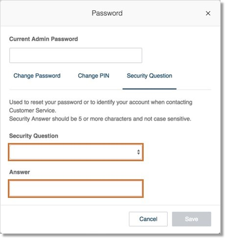 The Security Question and Answer is used to reset your password or to identify your account when contacting Customer Service.