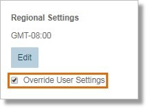 Ensure that the Override User Settings checkbox is checked.