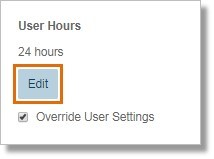 On the User Details section, click Edit under User Hours.
