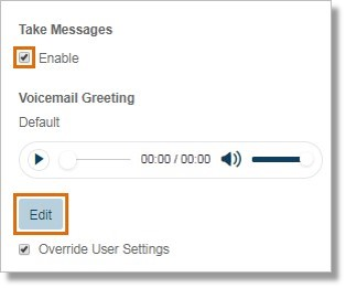 You can click Edit under Voicemail Greeting.