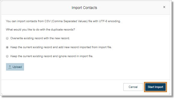 Click Start Import.