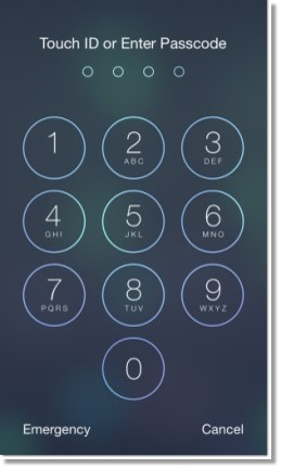 You will be asked to unlock your phone using Touch ID or by entering your PIN to continue if your phone requires protection for unlocking the screen.