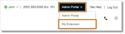 Administrators should switch to My Extension after logging in to the Online account.