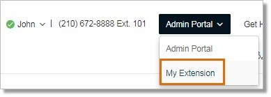 Administrators should log in to Office@Hand account then go to My Extension to view the Conference calling details.