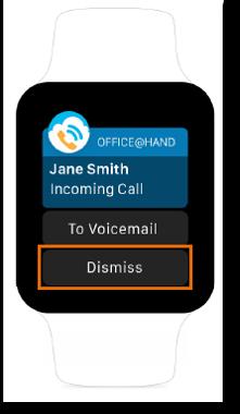 Dismiss/ignore calls.