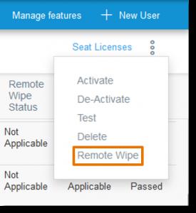 Click Remote Wipe.