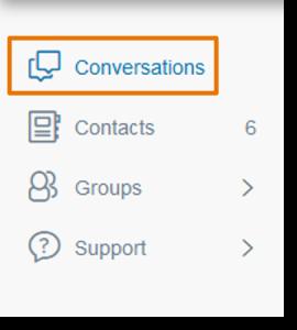 Click Conversations.