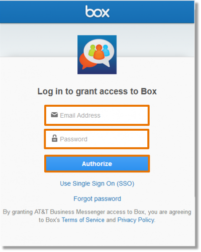 After selecting a cloud service, you will need to log in to your account.