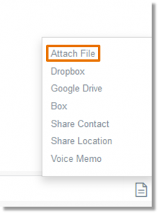 Select the Attach File option, and then browse to the appropriate file.