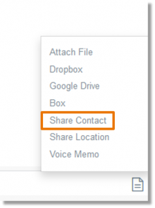 Select the Share Contact option.