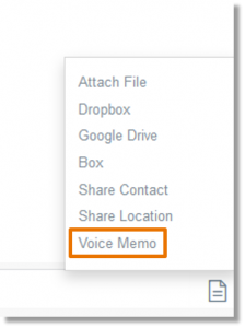 Select the Voice Memo option.