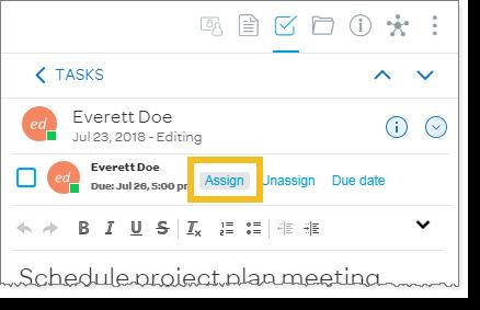 Assign a task (desktop and web)