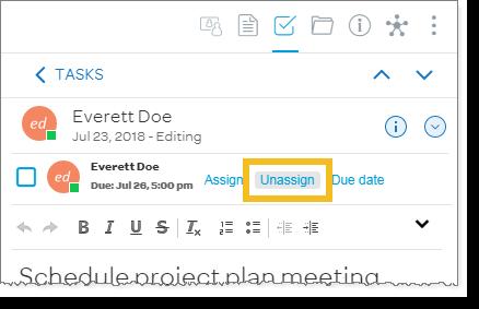 Unassign a task (desktop and web)