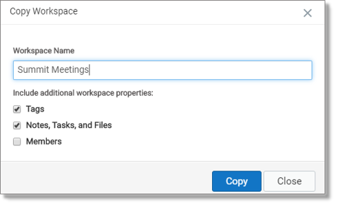 Clone workspace (web and desktop)