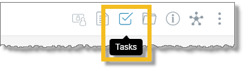 Click the Tasks icon (desktop and web)