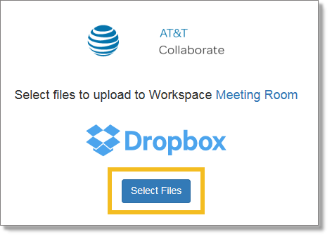 Select Dropbox files