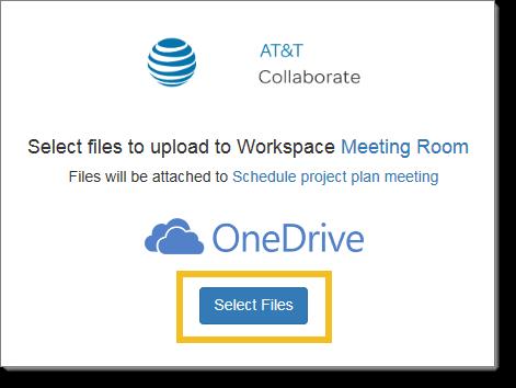 Select OneDrive files
