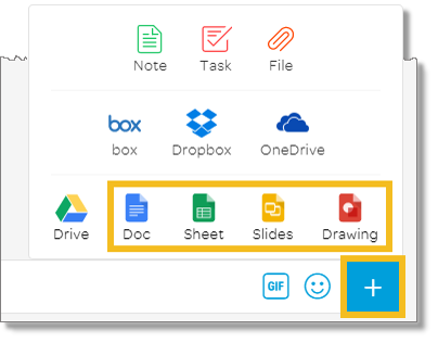 Select Google Doc type