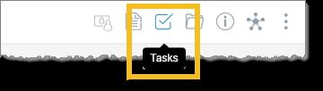 Click the Tasks icon