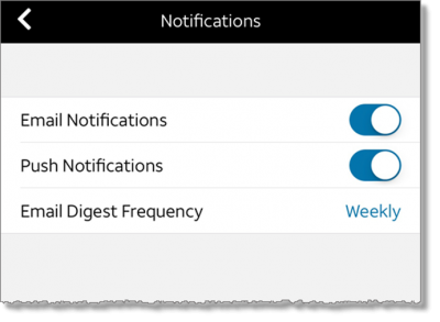 Select notifications (tablet and web)