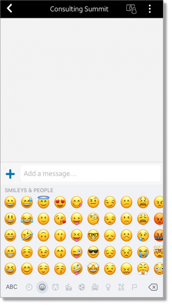Add an emoji to chat (web and desktop)