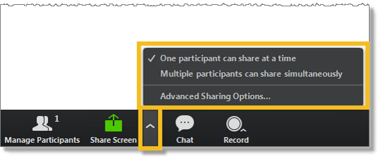 Sharing options (web and desktop)