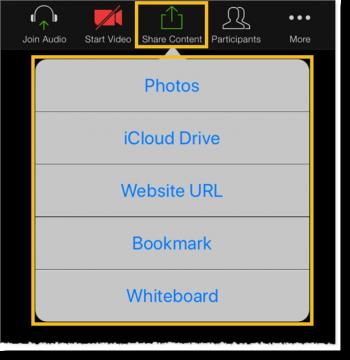Sharing options (web and desktop)
