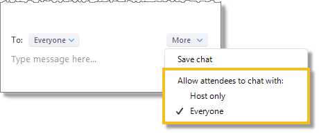 Manage chat settings (web and desktop)