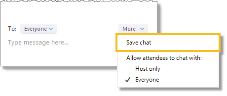 Save chat (web and desktop)