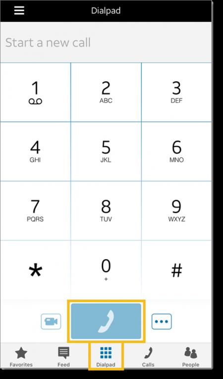Dial an external number (web and desktop)