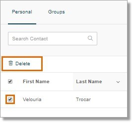 Under the Groups tab, tick the box on the name of the group that you want to remove, and then click the Delete button.