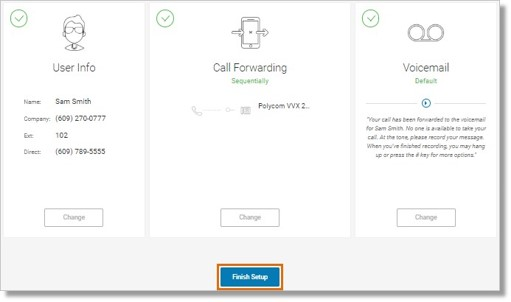 After completing the setup, you can still click Change any time to modify your information.