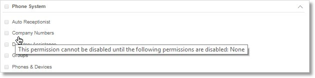 Other permissions are not dependent on other permissions.