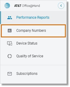 Go to Admin Portal > Reports > Analytics Portal > Company Numbers.