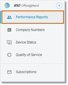 Go to Admin Portal > Reports > Analytics Portal > Performance Reports.