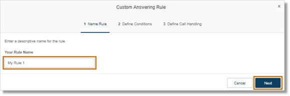 Enter a name for the rule, then click Next.