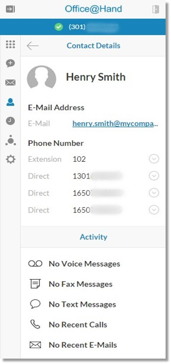 View your contact's details by clicking the Info info icon icon.