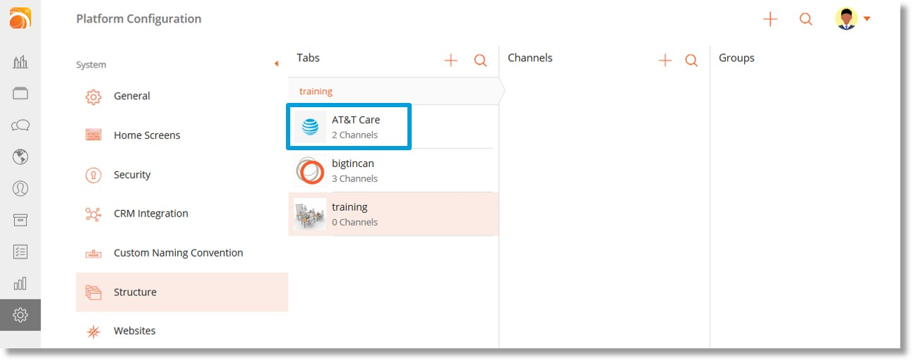 Create a channel in the bigtincan from AT&T web portal - Asecare