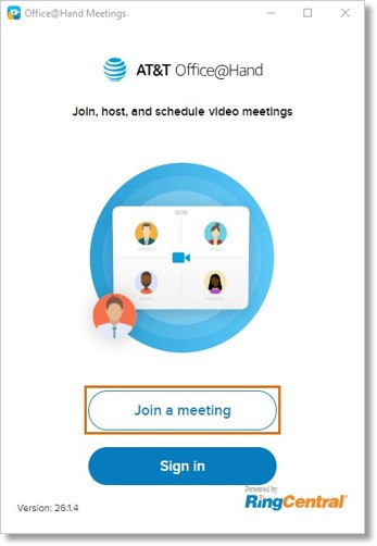 Click Join a meeting.