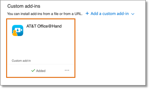 Once you have confirmed that the Office@Hand Meetings add-in has been added, close the general add-in page.